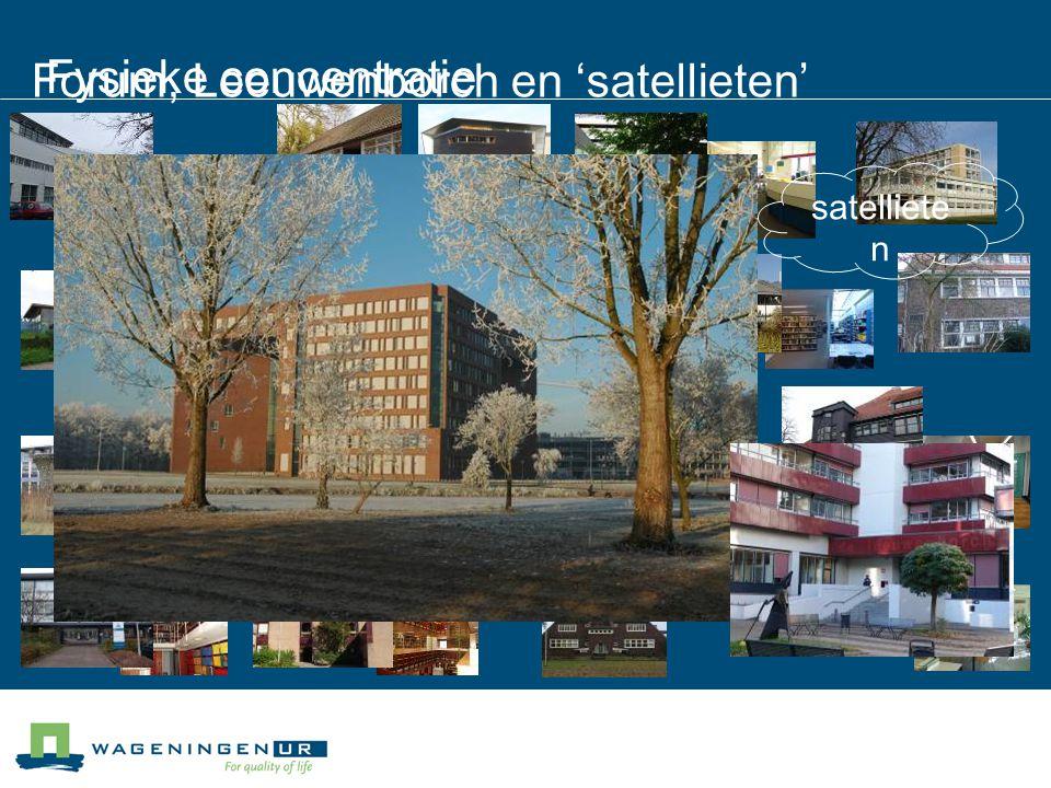 Fysieke concentratie satelliete n Forum, Leeuwenborch en 'satellieten'