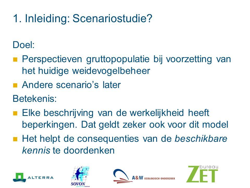 1. Inleiding: Scenariostudie.