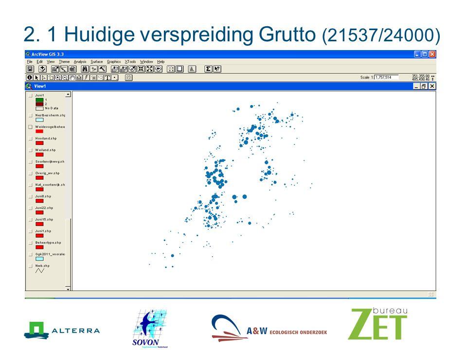 2. 1 Huidige verspreiding Grutto (21537/24000)