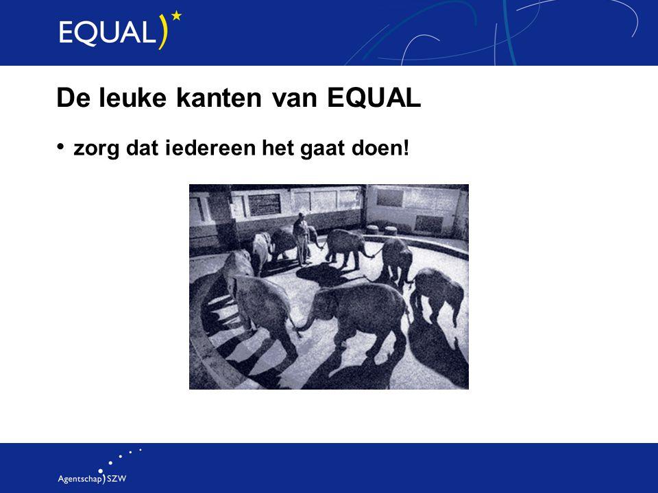 De leuke kanten van EQUAL zorg dat iedereen het gaat doen!