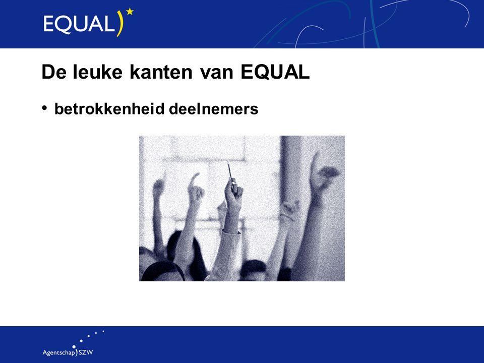 De leuke kanten van EQUAL betrokkenheid deelnemers