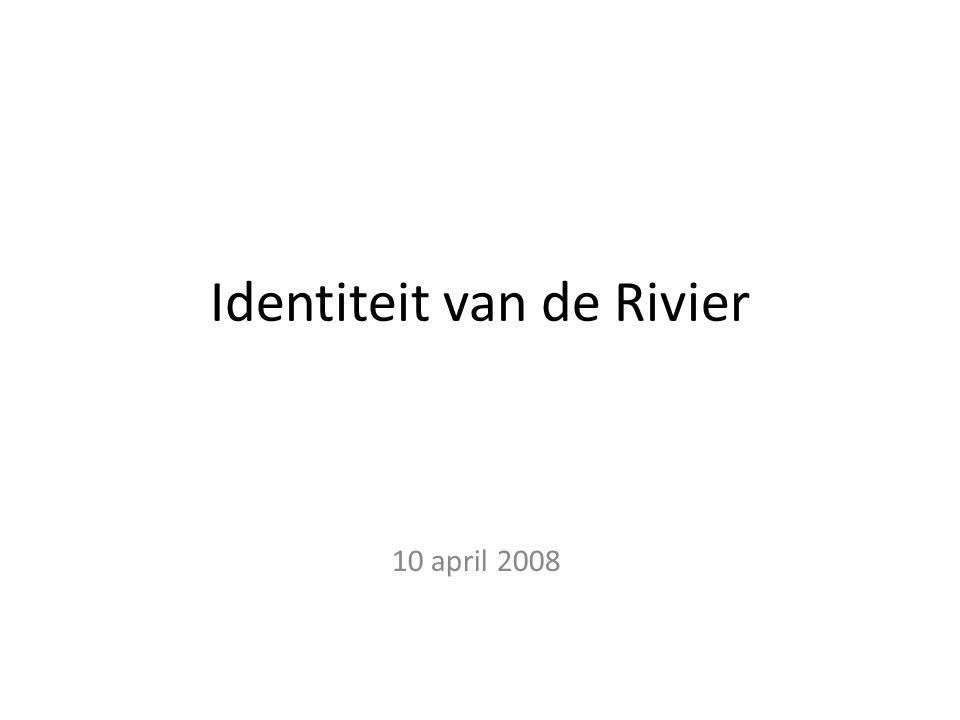 Hoofdvraag Wat is de ruimtelijke identiteit van de rivier in laag Nederland buiten de bebouwingskernen.