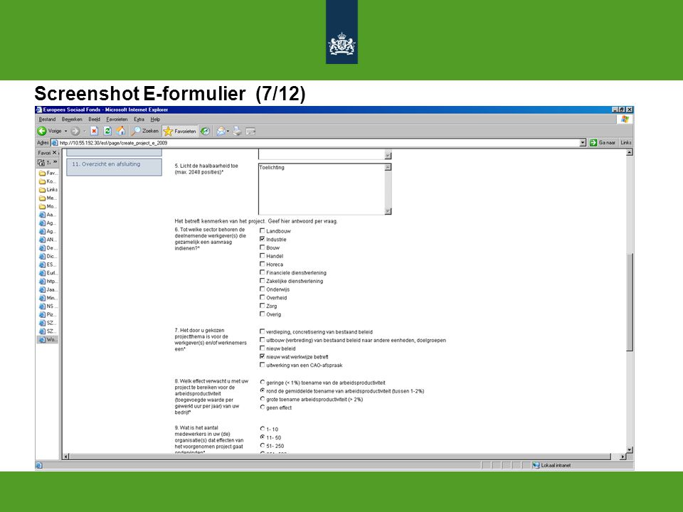 Screenshot E-formulier (7/12)