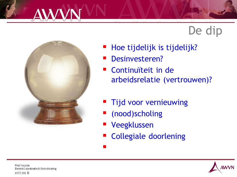 Piet Vessies Beleid Coordinatie & Ontwikkeling #373 308 6 De dip  Hoe tijdelijk is tijdelijk.