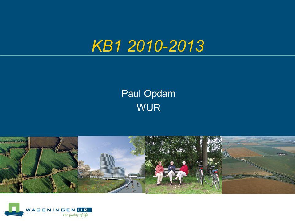 KB1 2010-2013 Paul Opdam WUR