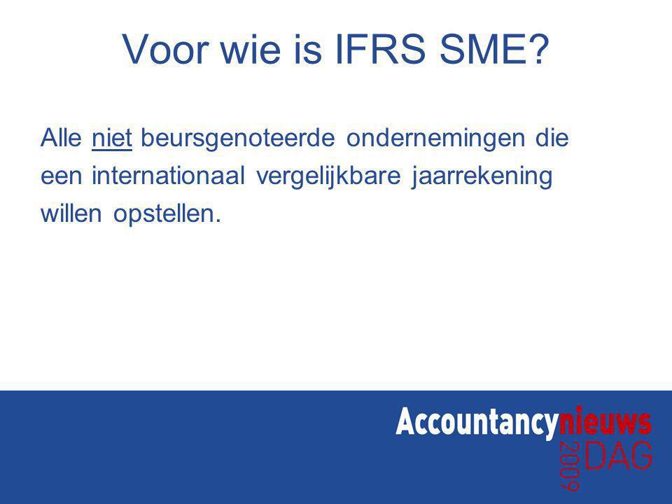 Voor wie is IFRS SME.