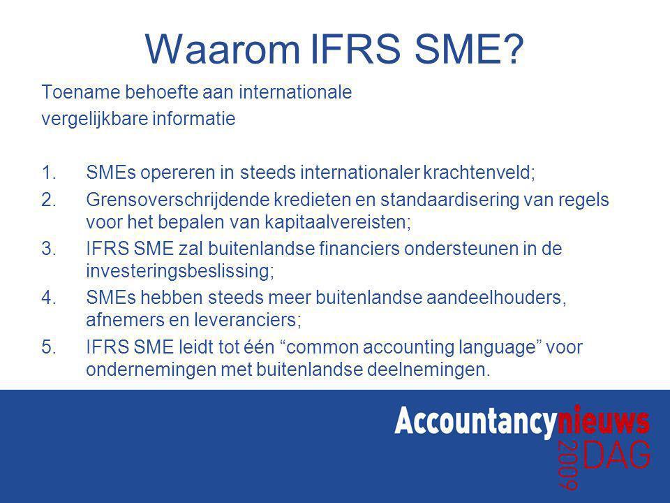 Waarom IFRS SME.