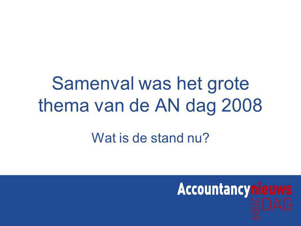 Samenval was het grote thema van de AN dag 2008 Wat is de stand nu?