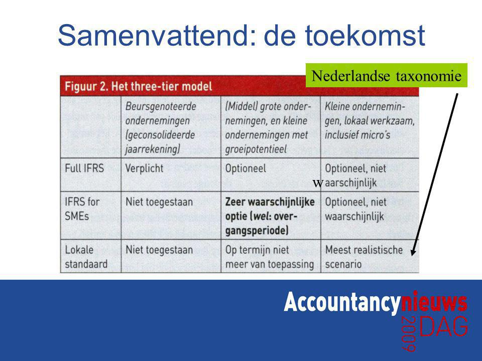 Samenvattend: de toekomst Nederlandse taxonomie w