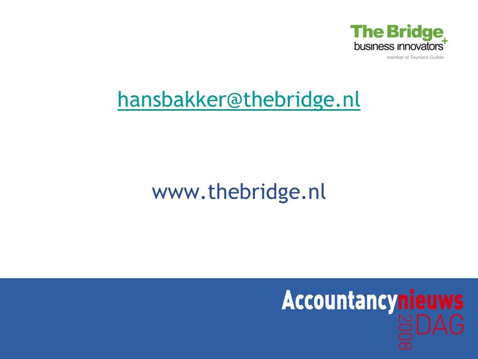 hansbakker@thebridge.nl www.thebridge.nl
