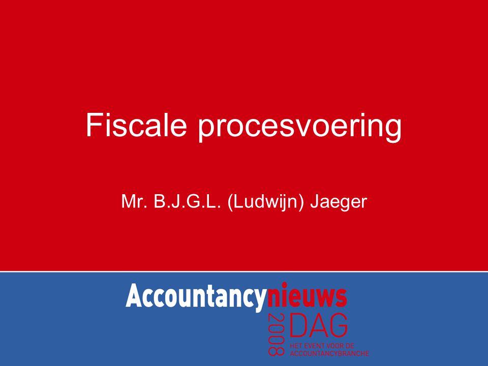 Fiscale procesvoering Mr. B.J.G.L. (Ludwijn) Jaeger