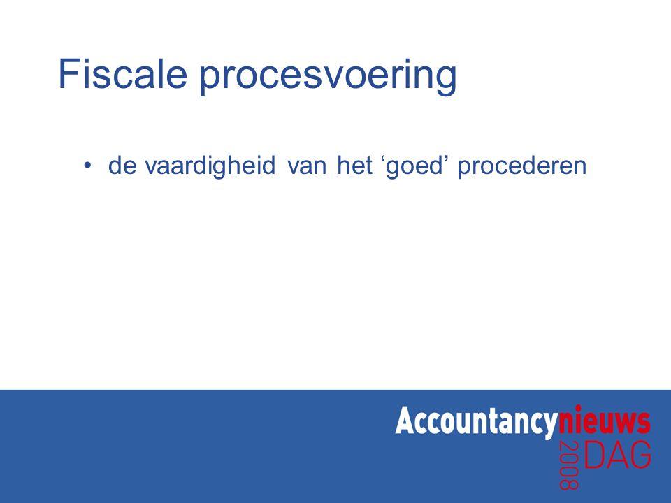 Fiscale procesvoering de vaardigheid van het 'goed' procederen