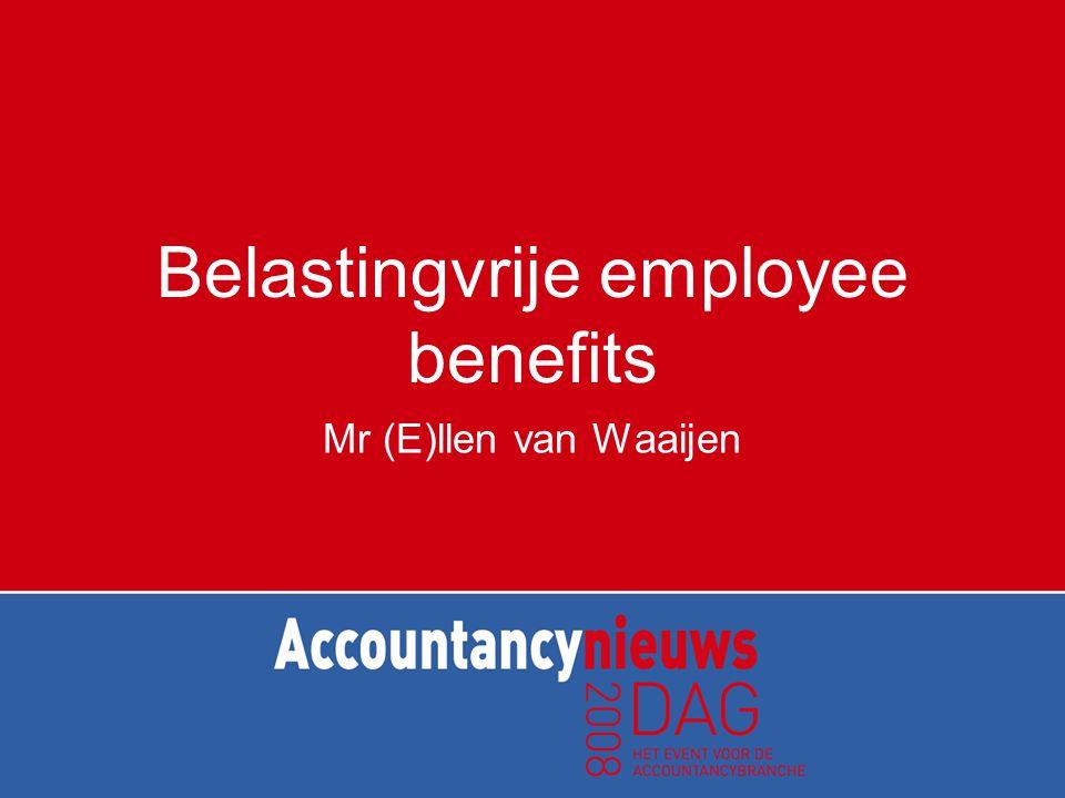 Belastingvrije employee benefits Mr (E)llen van Waaijen
