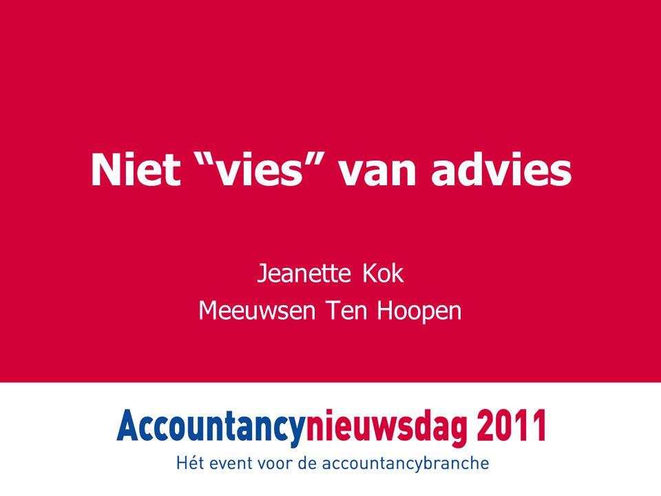"""Niet """"vies"""" van advies Jeanette Kok Meeuwsen Ten Hoopen"""
