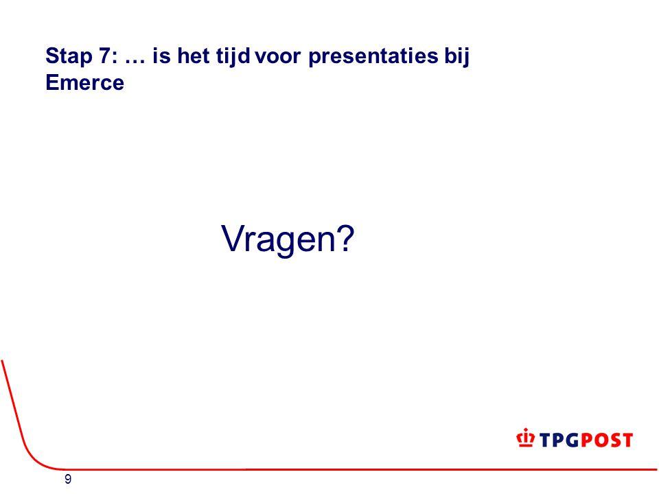 9 Stap 7: … is het tijd voor presentaties bij Emerce Vragen?