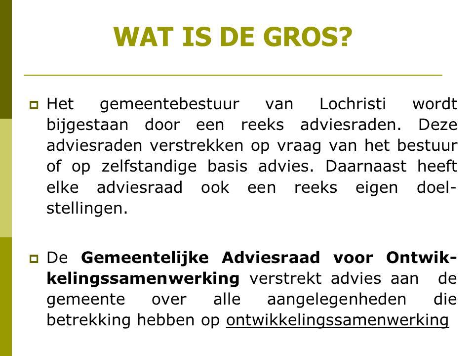 WAT IS DE GROS. Het gemeentebestuur van Lochristi wordt bijgestaan door een reeks adviesraden.