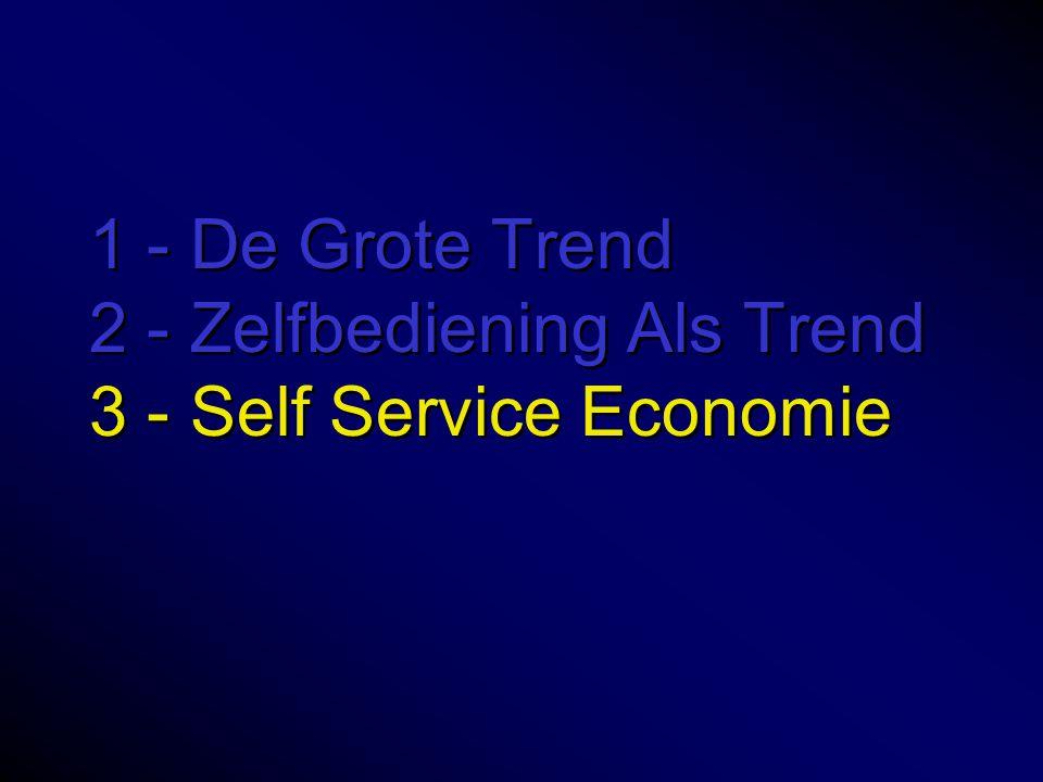 1 - De Grote Trend 2 - Zelfbediening Als Trend 3 - Self Service Economie