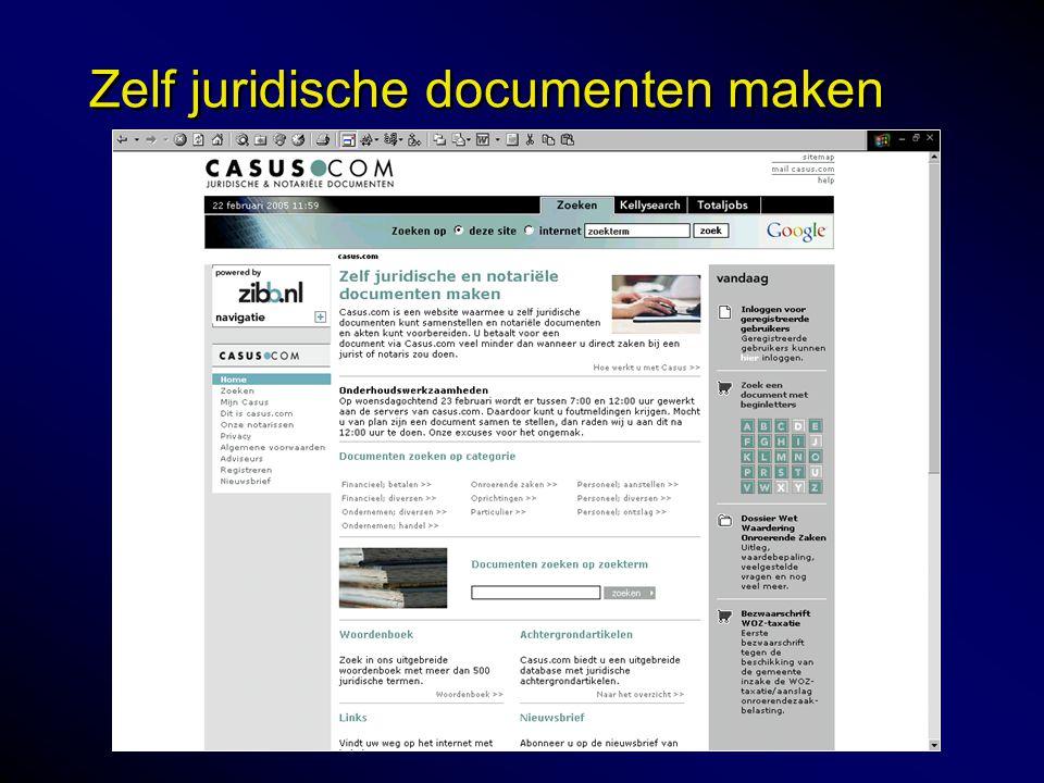 Zelf juridische documenten maken
