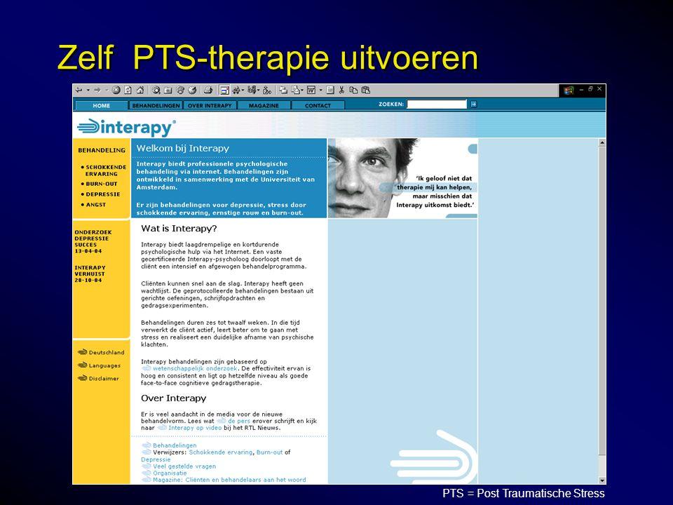 Zelf PTS-therapie uitvoeren PTS = Post Traumatische Stress