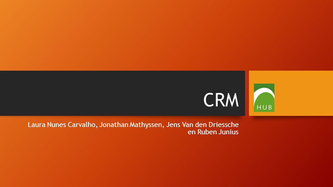 CRM Laura Nunes Carvalho, Jonathan Mathyssen, Jens Van den Driessche en Ruben Junius