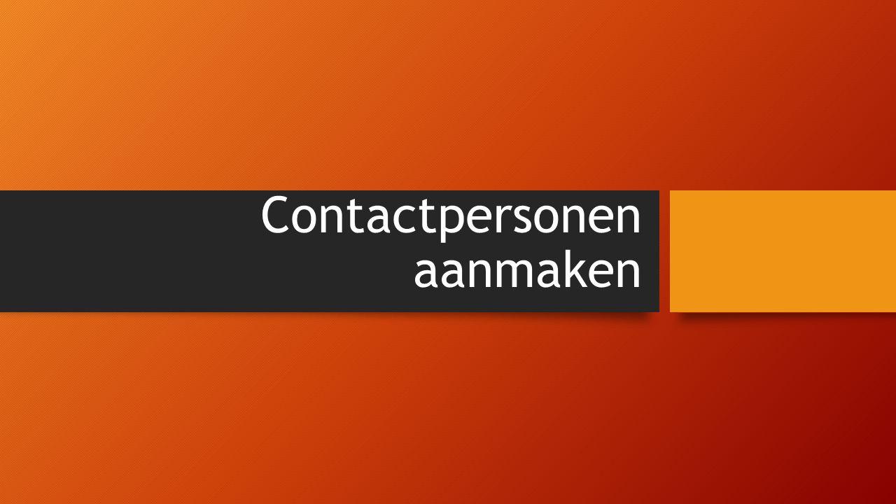 Contactpersonen aanmaken