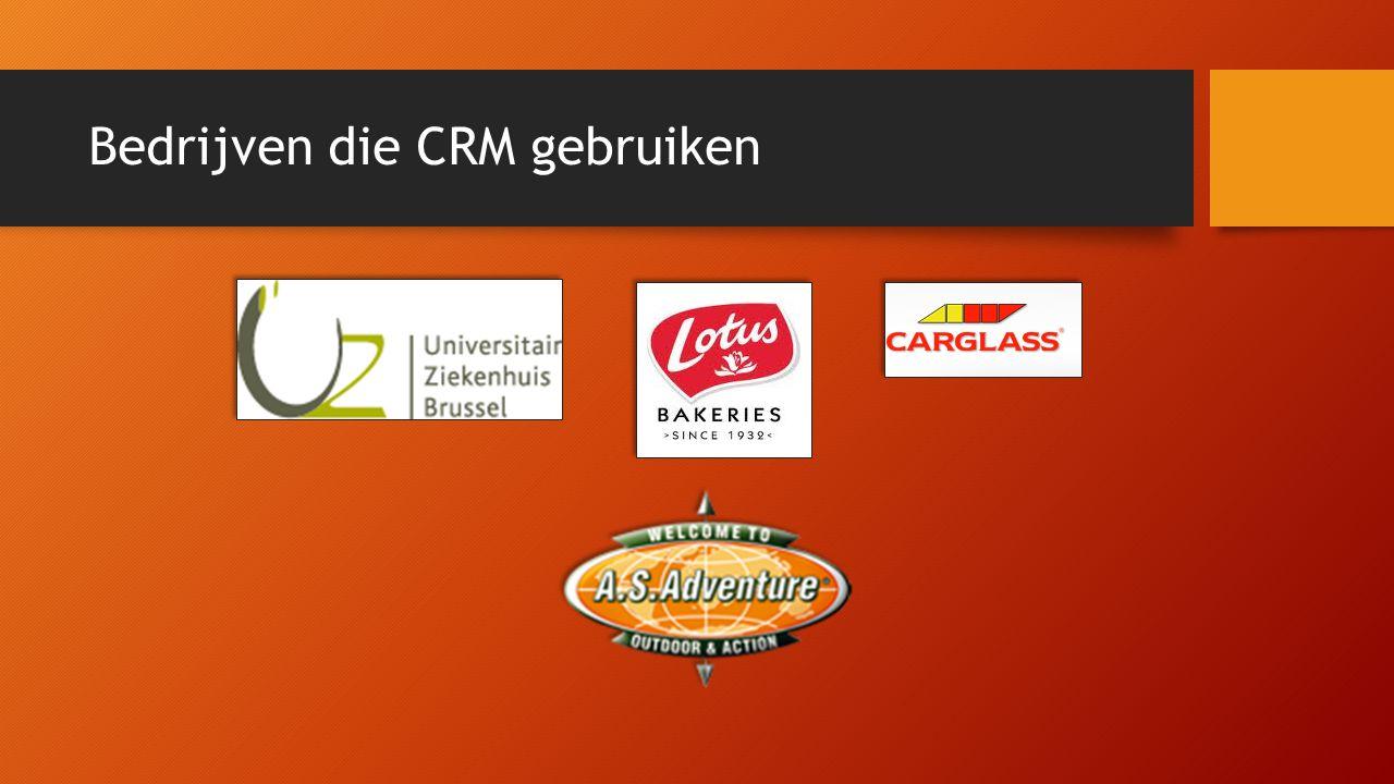 Bedrijven die CRM gebruiken