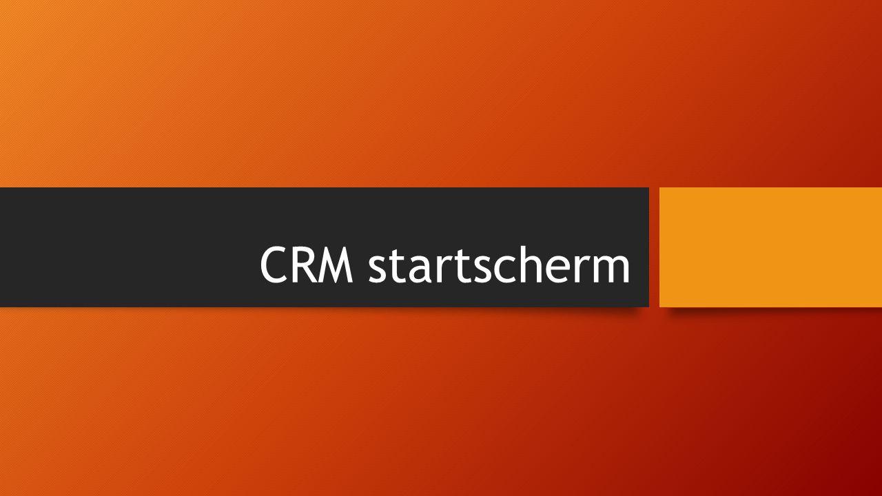 CRM startscherm