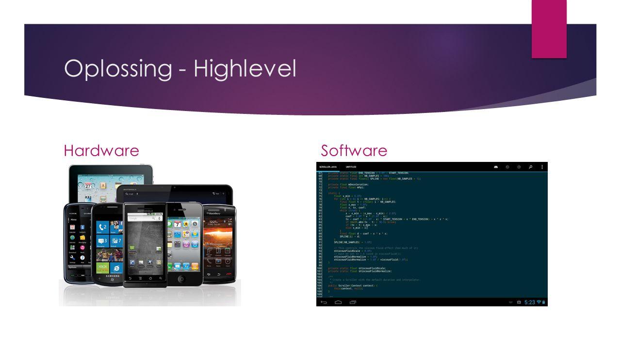 Oplossing - Detail HardwareSoftware