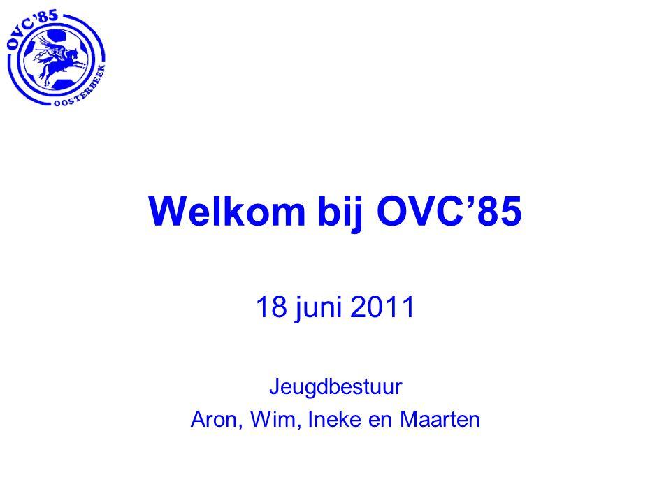 Welkom bij OVC'85 18 juni 2011 Jeugdbestuur Aron, Wim, Ineke en Maarten