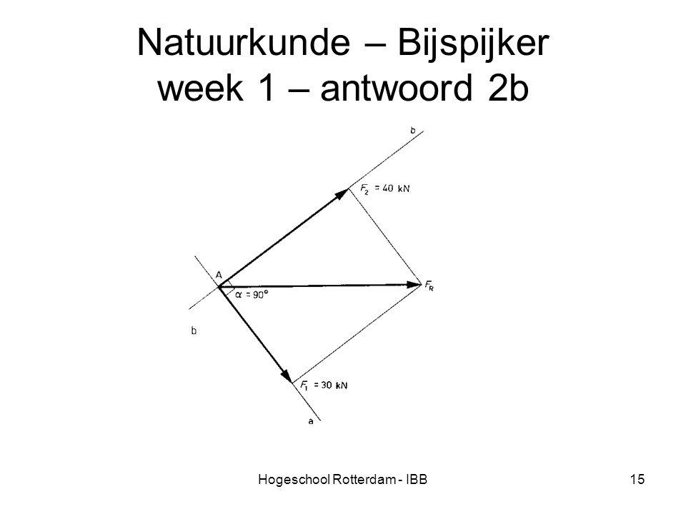 Hogeschool Rotterdam - IBB15 Natuurkunde – Bijspijker week 1 – antwoord 2b