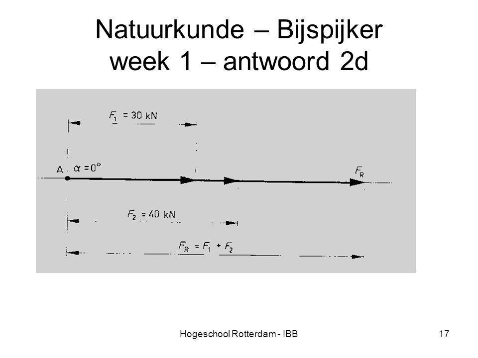 Hogeschool Rotterdam - IBB17 Natuurkunde – Bijspijker week 1 – antwoord 2d