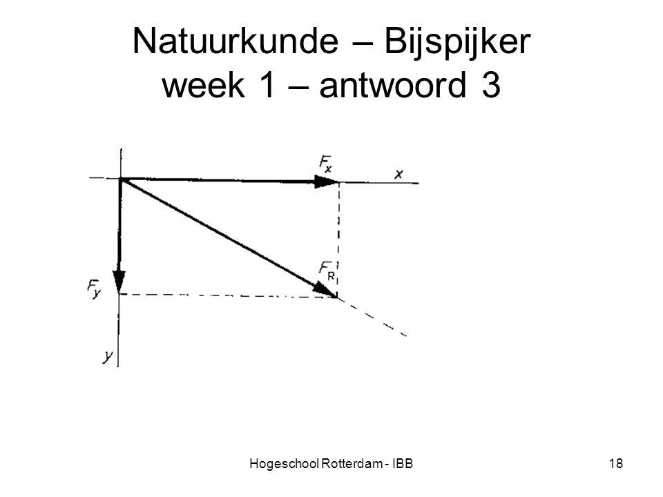 Hogeschool Rotterdam - IBB18 Natuurkunde – Bijspijker week 1 – antwoord 3