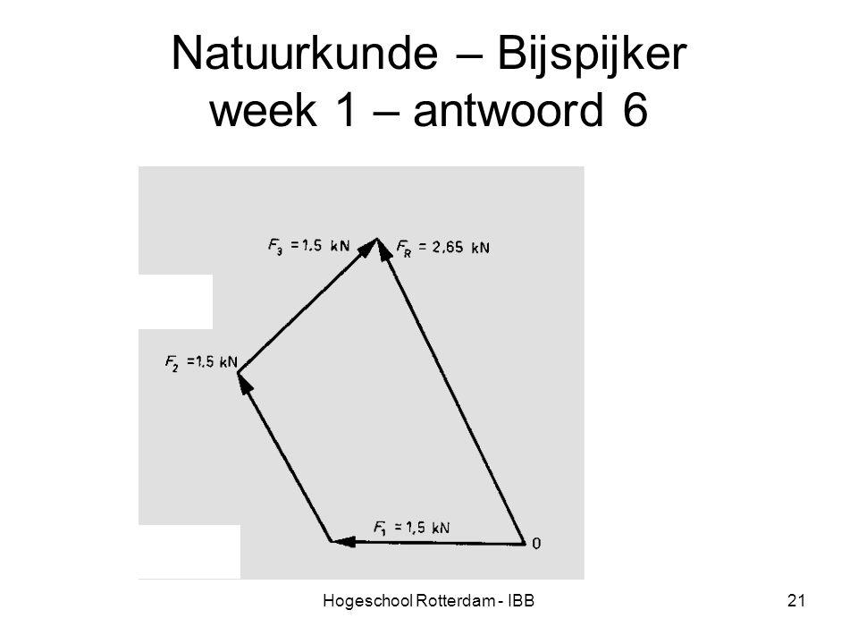 Hogeschool Rotterdam - IBB21 Natuurkunde – Bijspijker week 1 – antwoord 6