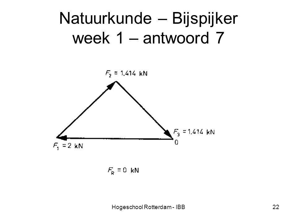 Hogeschool Rotterdam - IBB22 Natuurkunde – Bijspijker week 1 – antwoord 7