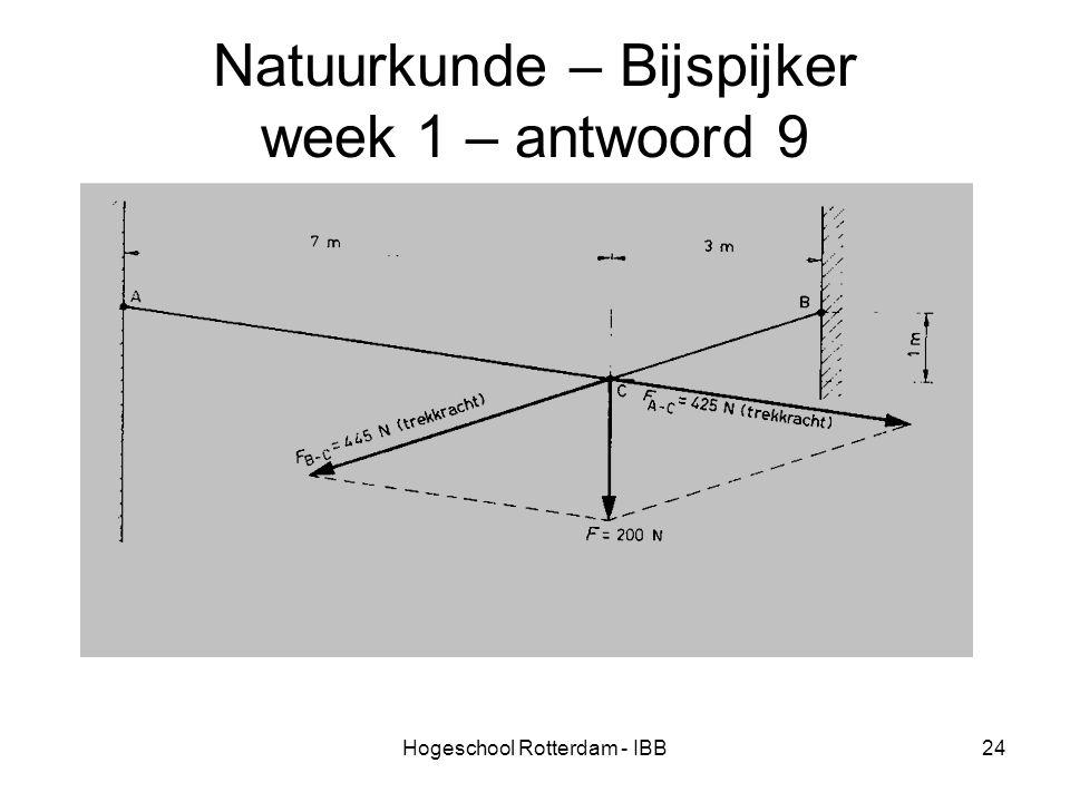 Hogeschool Rotterdam - IBB24 Natuurkunde – Bijspijker week 1 – antwoord 9