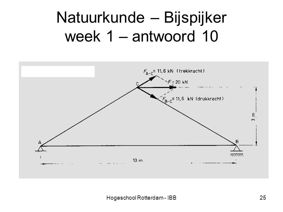 Hogeschool Rotterdam - IBB25 Natuurkunde – Bijspijker week 1 – antwoord 10