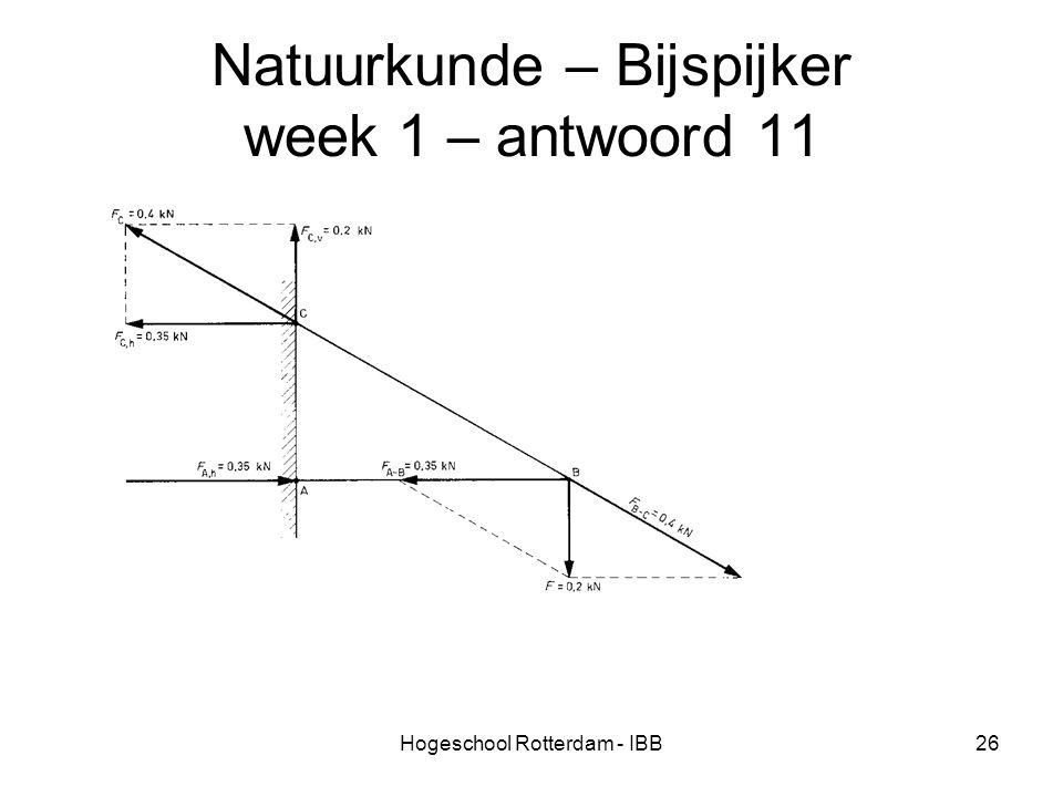 Hogeschool Rotterdam - IBB26 Natuurkunde – Bijspijker week 1 – antwoord 11