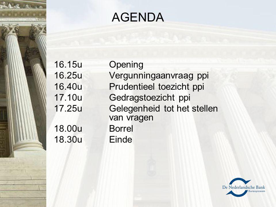 AGENDA –Financiële sector in Nederland –Wet- en regelgeving m.b.t.
