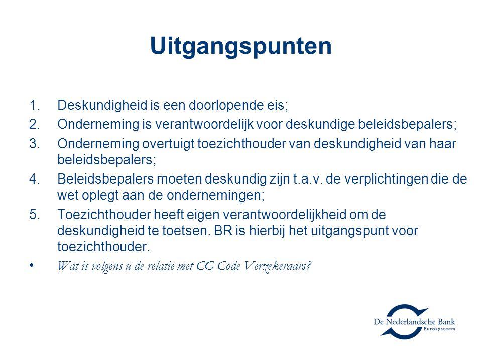 Proportionaliteit (i): De eisen zijn voor elke beleidsbepaler hetzelfde, invulling van deze eis is echter niet identiek.