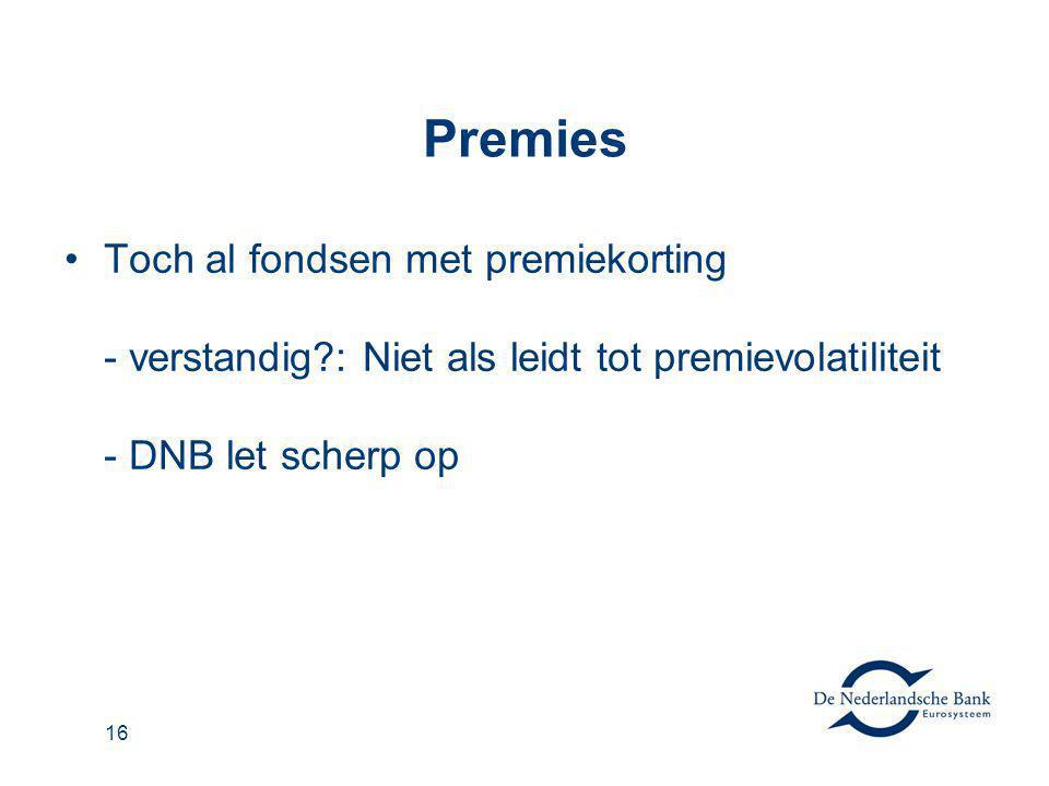 17 Pension Fund Governance Inspanningsverplichting in 2007 - Enquête DNB Resultaat verplichting m.i.v.