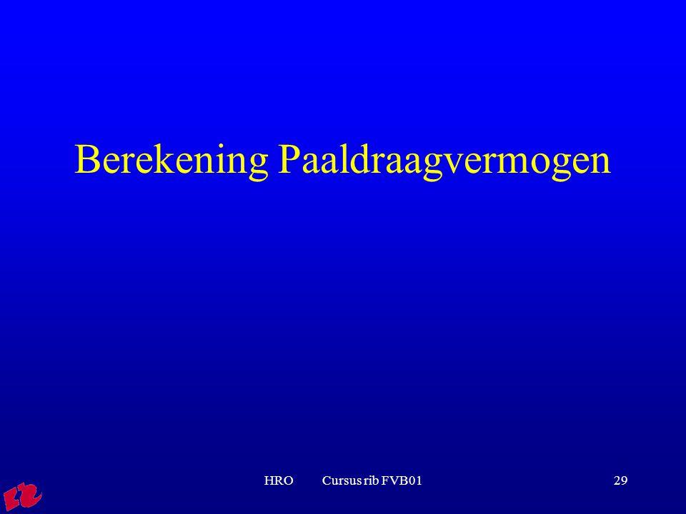 HRO Cursus rib FVB0129 Berekening Paaldraagvermogen