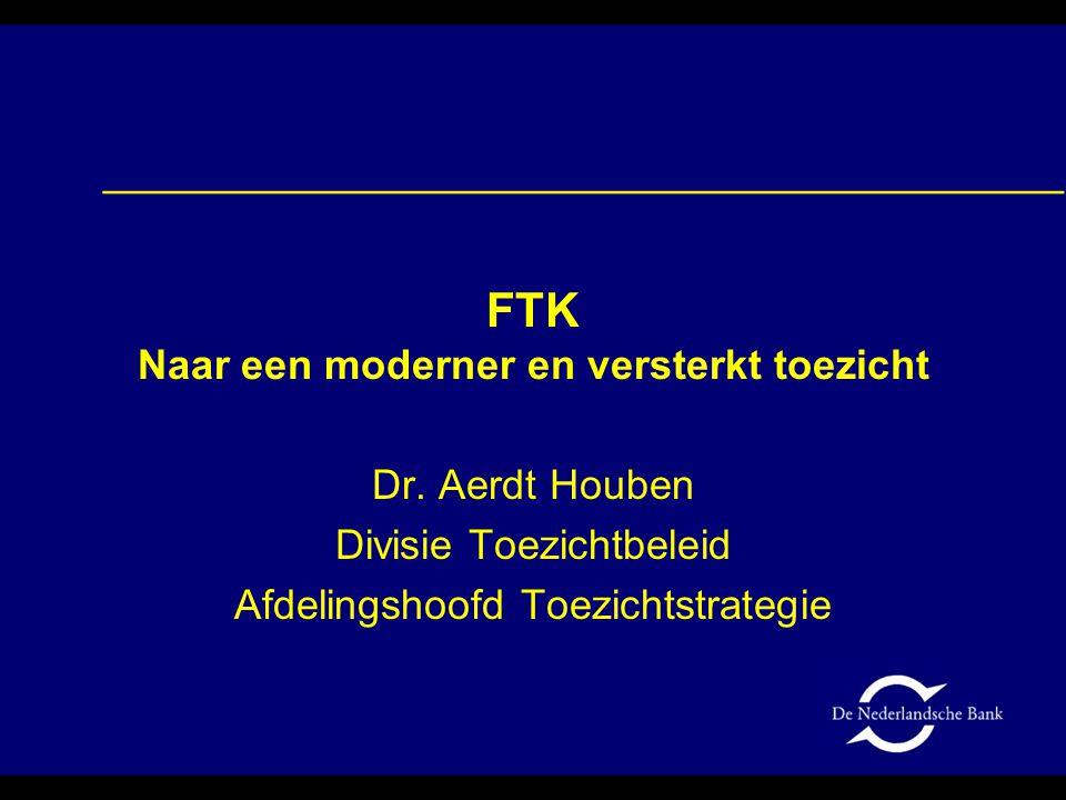 Agenda Waarom FTK? Algemeen raamwerk FTK Afsluiting