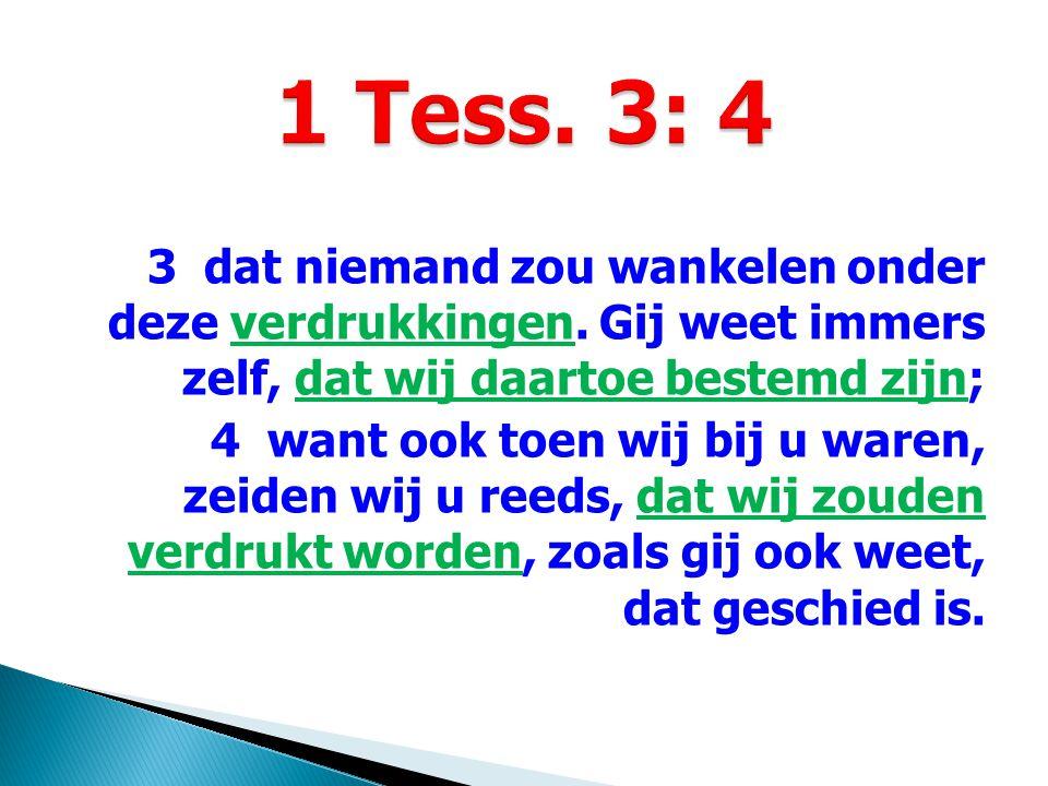 5 Daarom kon ik het ook niet langer uithouden en zond hem om mij te vergewissen van uw geloof, of de verzoeker u misschien verzocht had en onze inspanning vruchteloos zou geworden zijn.