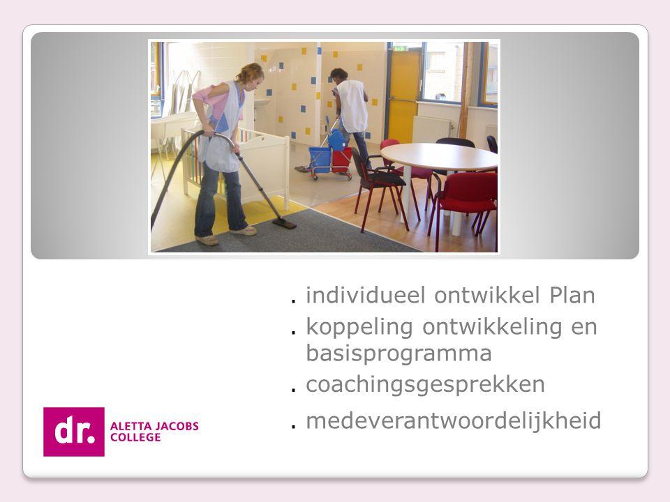 . individueel ontwikkel Plan. koppeling ontwikkeling en basisprogramma. coachingsgesprekken. medeverantwoordelijkheid