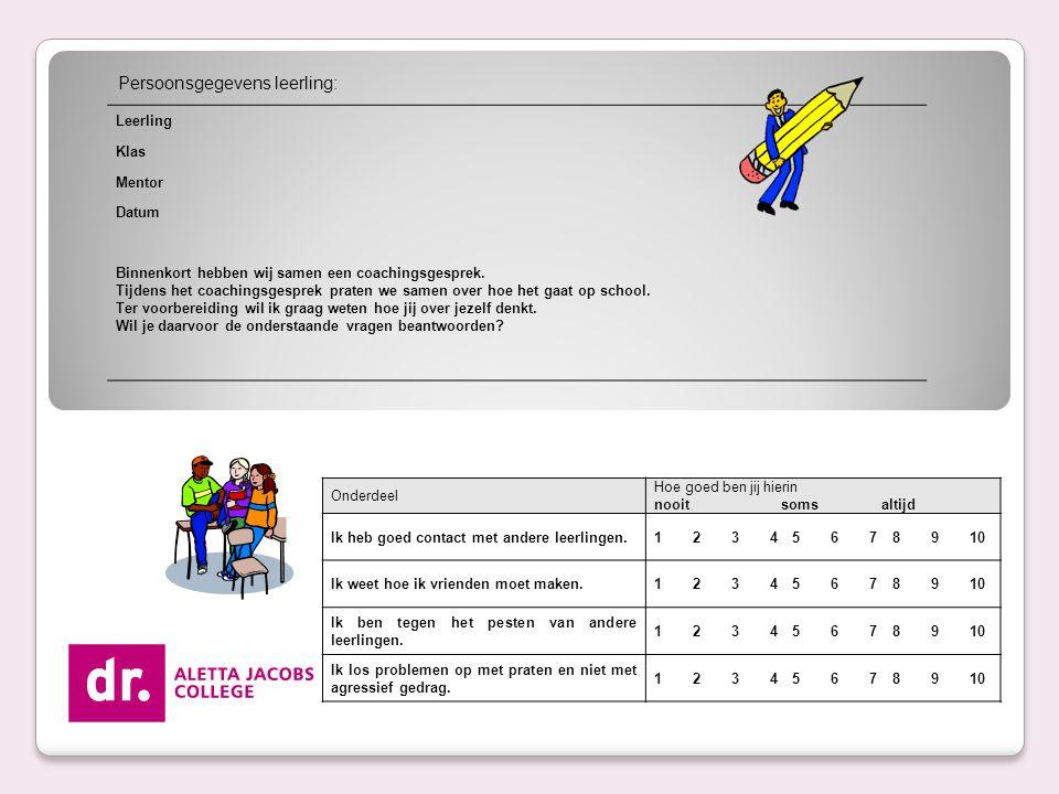 PrO portfolio.leerling volgjezelf systeem. bijstellen IOP.
