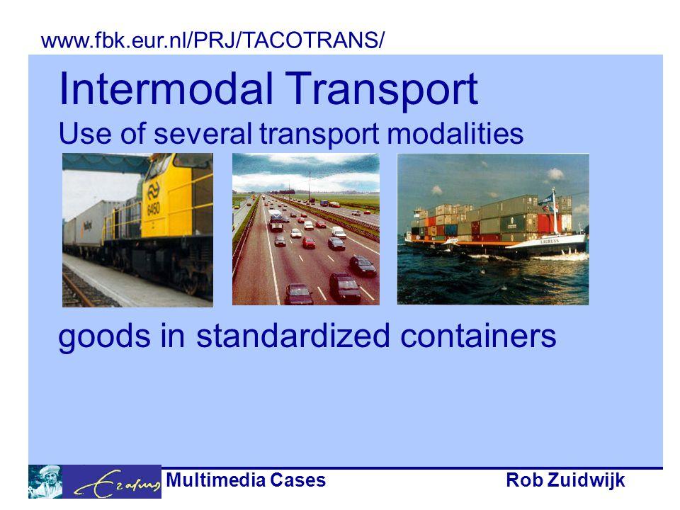 Multimedia CasesRob Zuidwijk Intermodal Transport Chains www.fbk.eur.nl/PRJ/TACOTRANS/