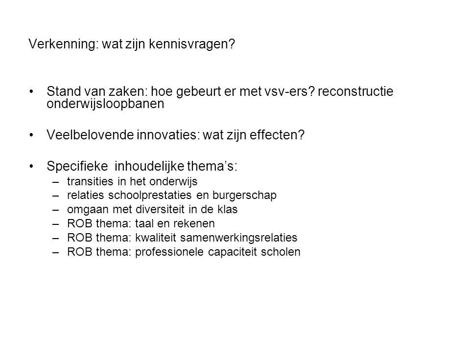 Doel en uitgangspunten Verbeteren van het onderwijsbeleid en de praktijk van het onderwijs in Rotterdam.