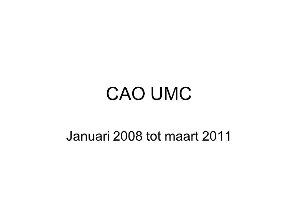 CAO UMC Januari 2008 tot maart 2011
