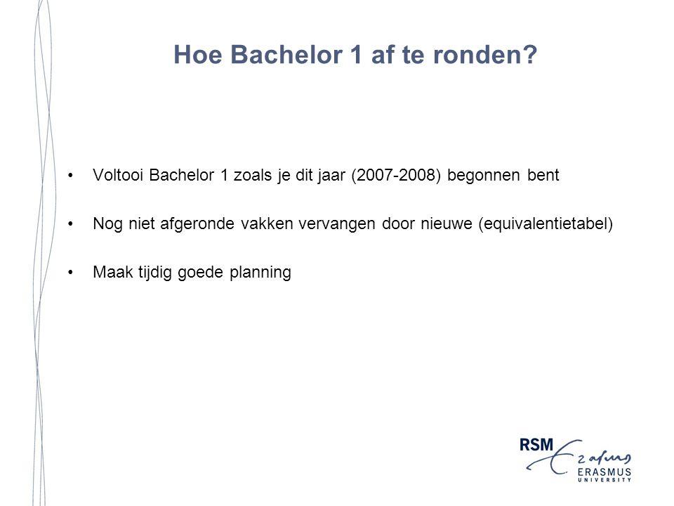 Hoe Bachelor 1 af te ronden.