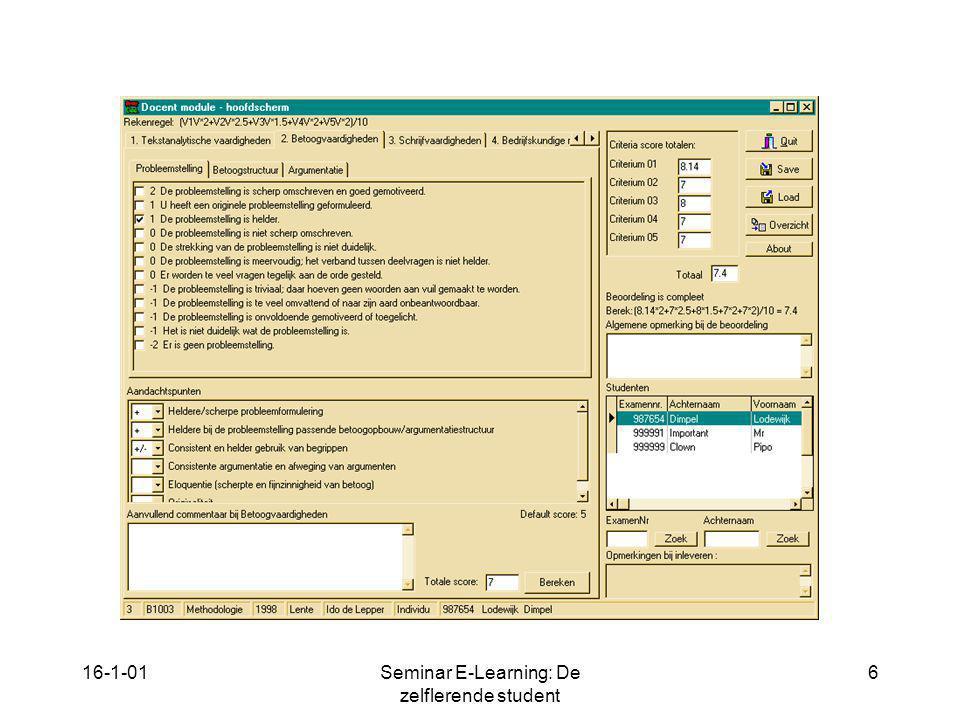 16-1-01Seminar E-Learning: De zelflerende student 6